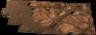 ズーム可能なカメラで撮影した火星の岩石のパノラマ