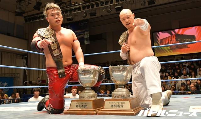 大日本プロレスの河上隆一&菊田一美がアジアタッグ初防衛!前王者ジェイク・リーが挑戦を表明し「負けると思って挑戦する馬鹿がどこにいるよ」