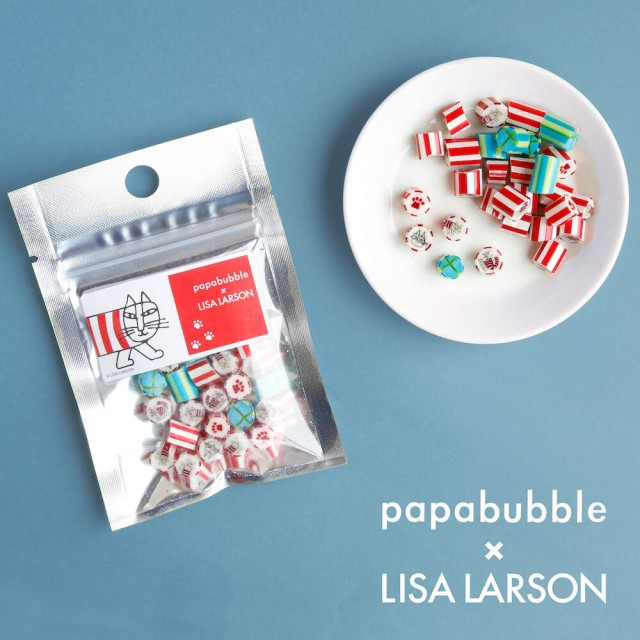 猫のマイキーが可愛いキャンディに!「パパブブレ」と「リサ・ラーソン」のコラボ商品が登場
