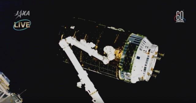 こうのとり7号機、ISSとドッキング完了。ライブ配信も