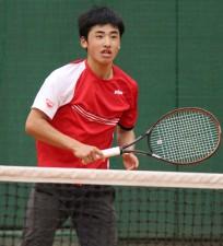 全仏・ジュニア日本予選時の田島尚輝[写真:tennis365.net]