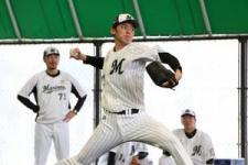 佐々木朗がプロ初ブルペン プロ野球