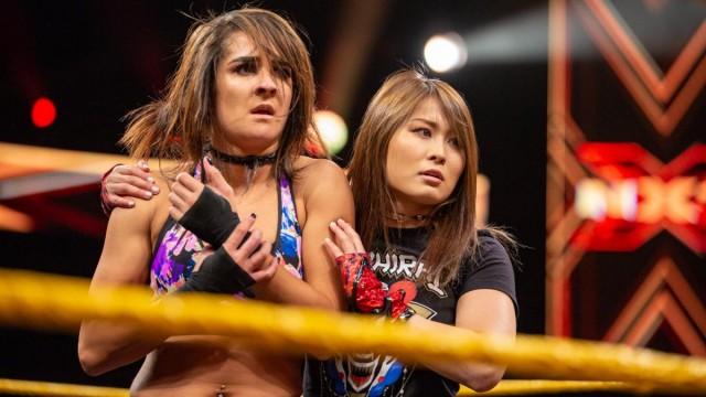 【WWE】紫雷イオが盟友ダコタの救済に登場、王者シェイナにアッパー炸裂
