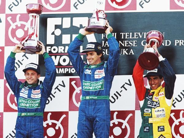 亜久里の3位と、モレノの涙。苦労人たちの1990年日本GP表彰台