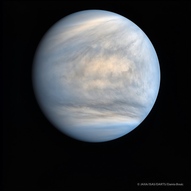 「あかつき」が撮影した金星の紫外線画像